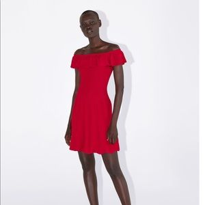 Zara knit red dress nwt